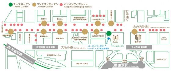 丸の内イルミネーション2013開催マップ
