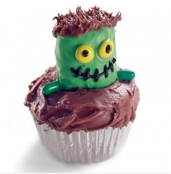緑モンスターのカップケーキ